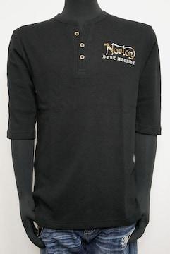 新品Nortonサーマルイーグル6分袖Tシャツ黒L 211N1104