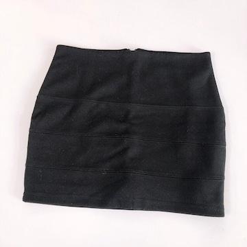 ◆mo'a購入/ミニタイトスカート◆ブラックM*ファスナー付き♪ギャルコーデ