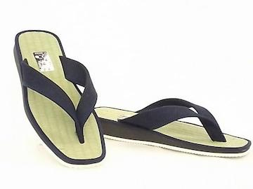 畳サンダル 草履 鼻緒 1156 Lサイズ(26.0cm) 紺�F いぐさ