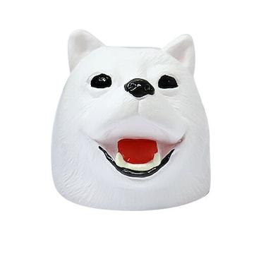 アンブレラ ストッパー 白犬 ラバー 滑り止め グッズ 傘 ヘッド 雑貨