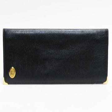 美品ダンヒル 二つ折り長財布 札入れ 黒 メンズ 良品 正規品