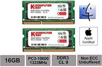 Komputerbay 16GB 1333MHz ノートPC用メモリ 204Pin SO-DIMM DDR