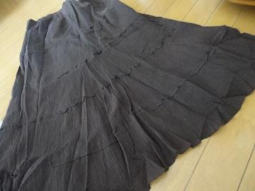 ティアードロングスカート【M】