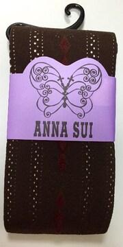 ANNA SUI★ストライプバタフライ柄★厚手タイツ