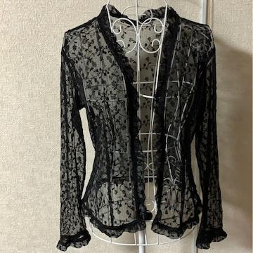 黒☆レース☆刺繍カーディガン☆パーティー結婚式 サイズM