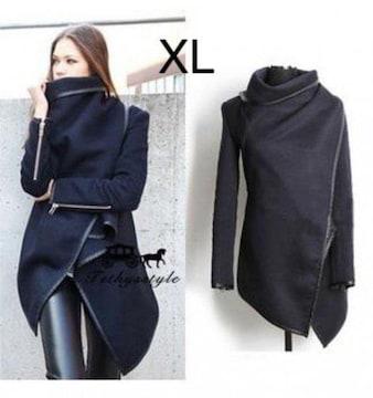 新品☆シンプル2way オシャレジャケット ブラック XL
