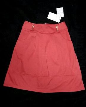 訳あり 新品 グローブ grove 定価3990円 スカート 赤 レッド 春
