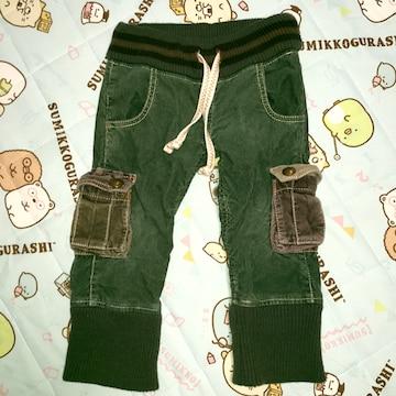 ♯ブーフーウー♯裾リブ可愛パンツ100男女〇?バックアレイ