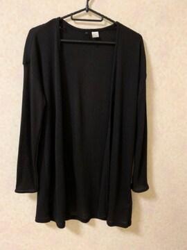 H&Mロングカーディガン エイチアンドエム黒Sサイズ