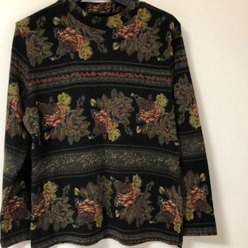 送料無料 Lサイズ花柄レディーストップス セーター