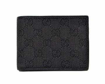 GUCCI グッチ 143384 GGキャンバス 二つ折り財布 ブラック【送料無料】