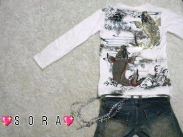 【昇り鯉】バック激シブ♪和柄和彫タトゥ ロンT