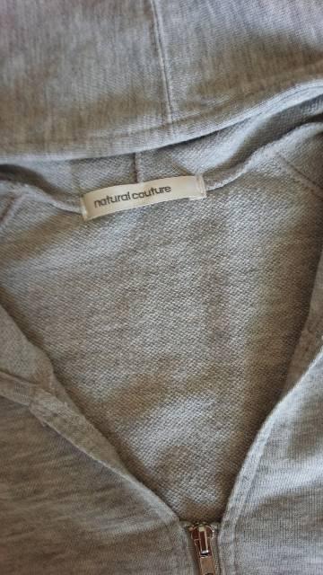 natural couture*半袖ロングパーカー*グレー < ブランドの