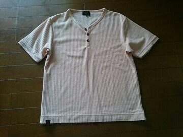 MCM Tシャツ ピンク系 ヘンリーネック Mサイズ 中古