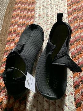 新品未使用  川 水砂場用 黒スニ-カサイズ23 sport靴