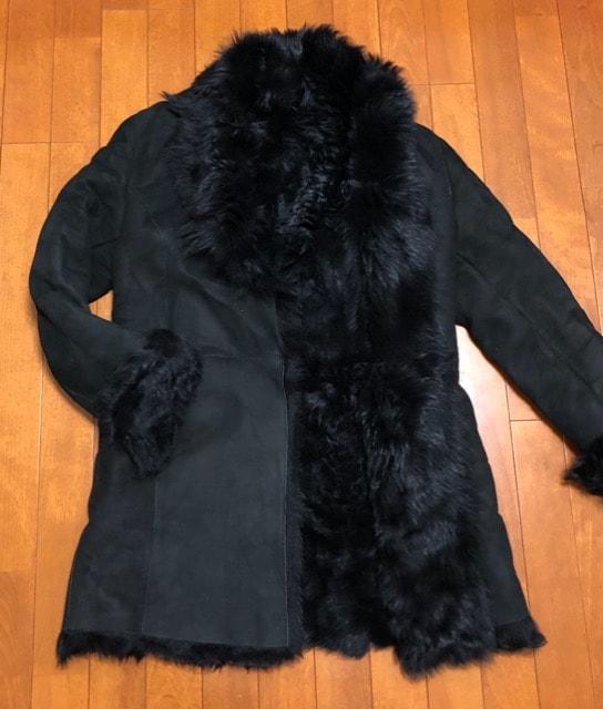イタリア製☆黒ムートンコート  < 女性ファッションの