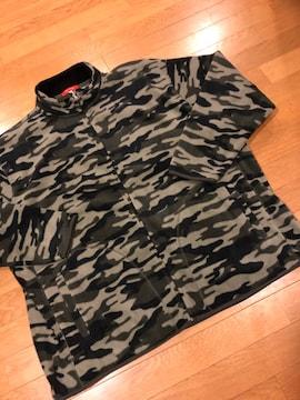 B&T CLUB  迷彩柄フリースジャケット  超大きいsize4XL