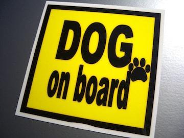 DOG on boardイエローステッカー□犬が乗ってます!