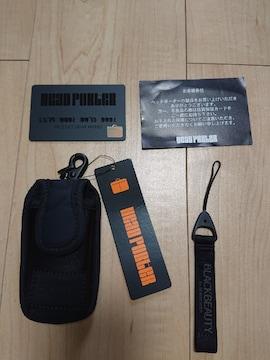 未使用!! ヘッドポーター ブラックビューティ / ドコモプレミニ用ケース、ストラップ