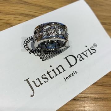 新品◆JUSTIN DAVIS◆MY LOVE RING◆7号◆クラウン薔薇リング◆