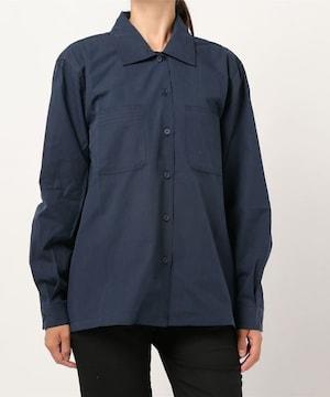 SPINNS 無地ワークシャツ ネイビー
