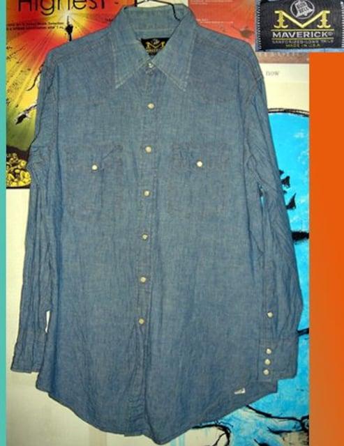 BLUE BELL MAVERICK シャンブレー シャツ ウエスタン 70s  < ブランドの