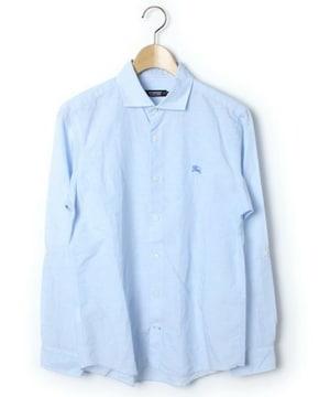 □バーバリーブラックレーベル ロールアップ シャツ 長袖/メンズ/2(M)水色