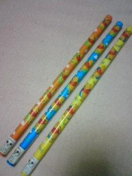 くまのプーさん鉛筆えんぴつ3本 激安ディズニー