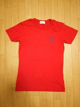 80s デサント製 adidas バックロゴビックトレフォイル Tシャツ