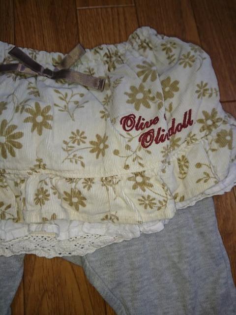 OLIVEdesOLIVE☆レギンス付きスカート 80 オリーブデオリーブ < キッズ/ベビーの