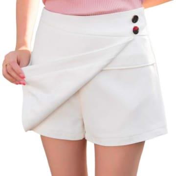 ミニスカートに見える!! 可愛いスカンツ(L寸・白)