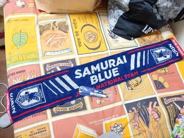 KIRINノベルティ SAMURAI BLUE タオルマフラー&ボールペン