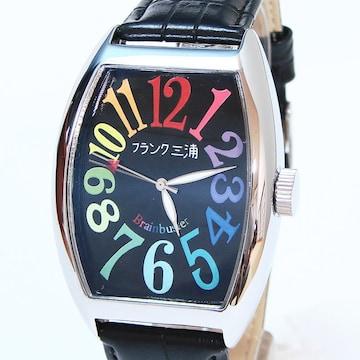 送料無料 フランク三浦 腕時計 レインボーブラック FM06K-CRB