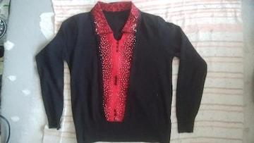 黒赤キラ長袖