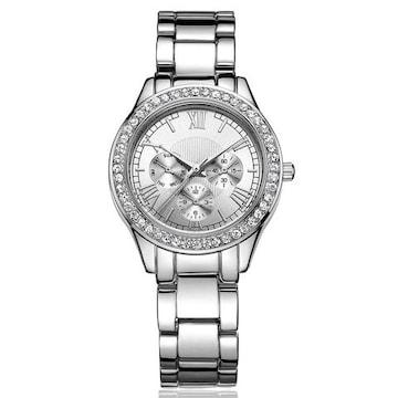 レディース 腕時計 クォーツ  クリスタル sv