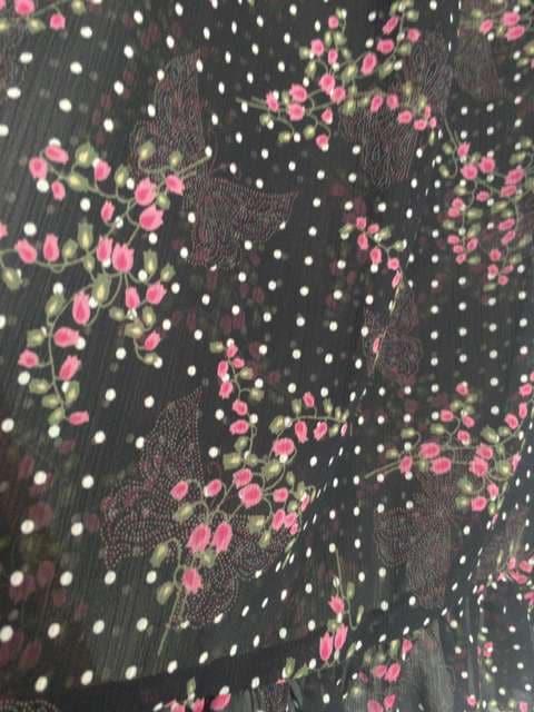 半袖 花柄 水玉 蝶々 プリント チュニック ワンピース M N2m < ブランドの