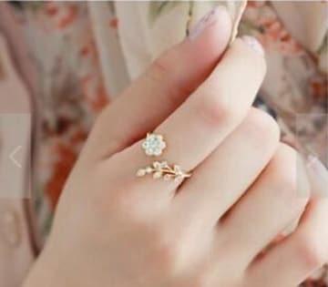 フラワー ファッションリング 指輪 シンプル デザイン