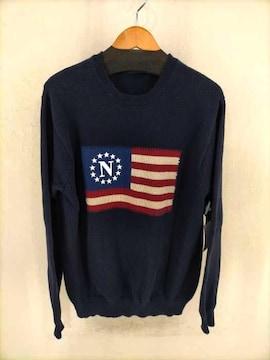 NAUTICA(ノーティカ)星条旗 クルーネックコットンニットニット・セーター