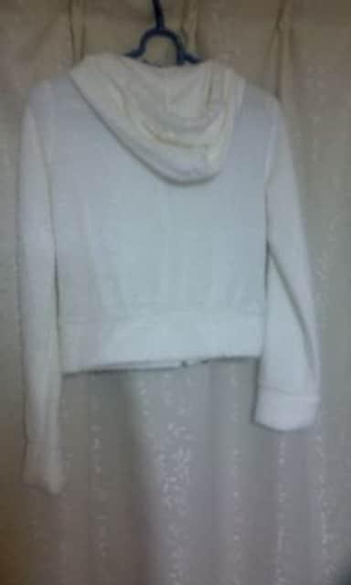 ★EMSエムズ  ショート丈 白 オシャレ サイズM ジャンバー ジャケット 気品溢れる★ < 女性ファッションの