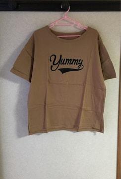 ★ベルメゾン/ドロップショルダープリントTシャツ【yummy】★