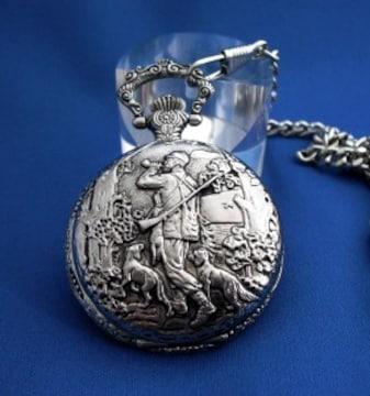 懐中時計ハンターSV-ポケットウォッチ漁師