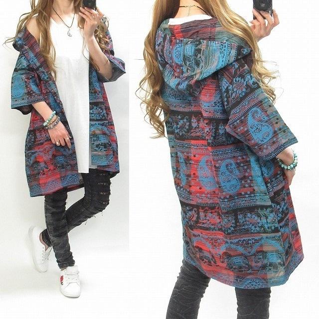 NEW最新typeBランダムデザイン/エスニック/パーカー1750 < 女性ファッションの