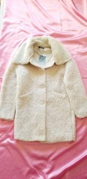 イタリア製お洒落可愛い♪ピンクベージュファージャケットコート