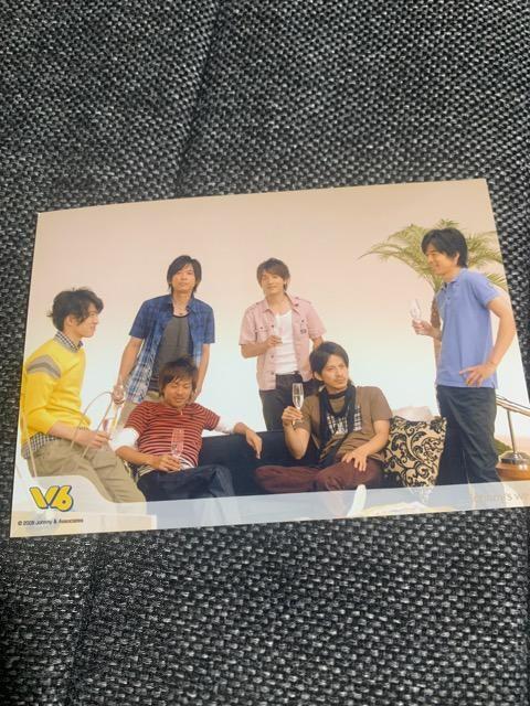 V6・全員・公式写真4枚セット < タレントグッズの