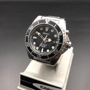 即決 SEIKO セイコー KINETIC SCUBA 腕時計 5M62-0BL0