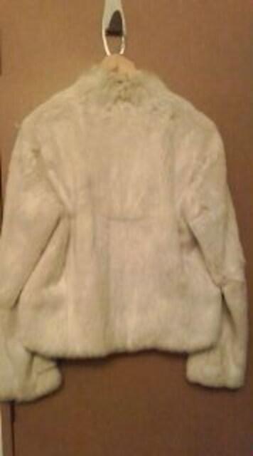 白のラビットファー◇ハリスPARIS白《美品》 < 女性ファッションの