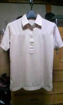 古着 ヴィンテージ 半袖ポロシャツ Sサイズ ベージュ 無地 ボーリングシャツ ユーズド