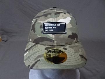 NEWERA 9TWENTY MLB B.レッドソックス迷彩CAP 7 1/8
