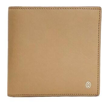 新品同様正規カルティエ財布二つ折りパシャL3000972ベージ