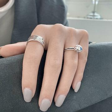 2個セット☆ニコちゃん 指輪 ペアリング ☆フリーサイズ